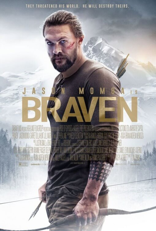 Braven movie poster featuring Jason Momoa.